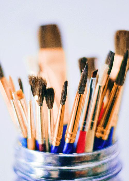 Paintbrush about image